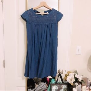 Target Blue Embroidered Babydoll Dress